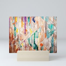 Pastel Tile Mosiac 1 Mini Art Print