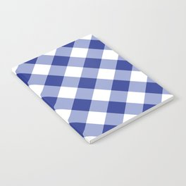 Gingham - Navy Notebook