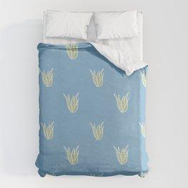 Blue Cactus Pattern Collection Duvet Cover