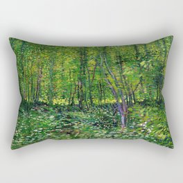 Vincent Van Gogh Trees & Underwood Rectangular Pillow