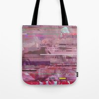glitch Tote Bags featuring Glitch  by Mikath
