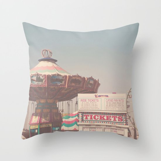 tickets please ...  Throw Pillow