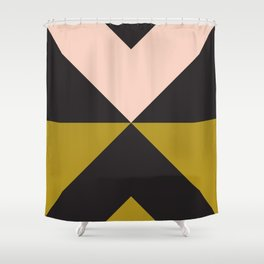 Split X Olive Pink Shower Curtain