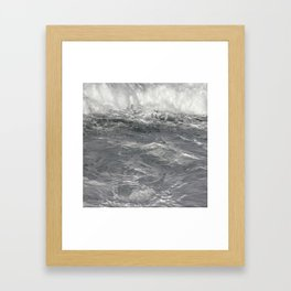 Roiling in Almost Black and White Framed Art Print