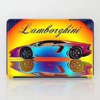 lamborghini iPad Cases featuring Lamborghini Aventador by JT Digital Art