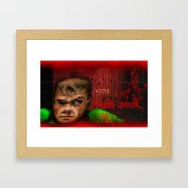 Doomguy - Mondays Framed Art Print