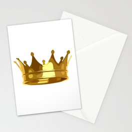 Royal Shining Golden Crown for King or Queen Stationery Cards