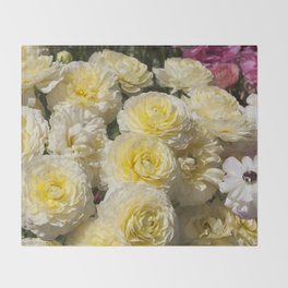 Spring Flowers Throw Blanket