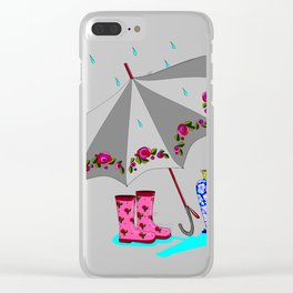 The Beauty of A Rainy Day Clear iPhone Case