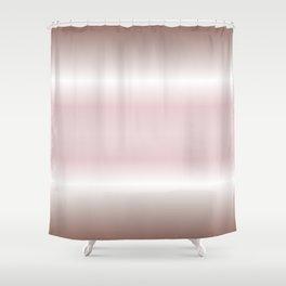 Dusky Pink Mauve Gradient Stripes Shower Curtain