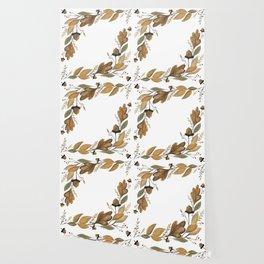 Acorn Foliage Wallpaper