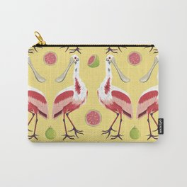 Brazilian Birds & Fruits - Roseate Spoonbill + guavas Carry-All Pouch