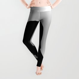 Couple with heart shaped background Leggings