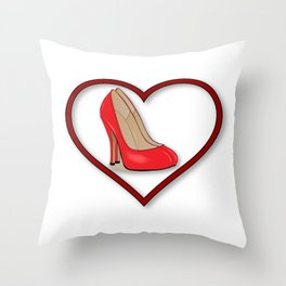Love Shoes Throw Pillow