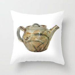 Photograph of Stoneware Teapot, Ceramic Art by Rostislav Eismont of Whipple Hill Art Collective Throw Pillow