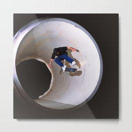 Tom Penny   Skateboard   Full Pipe Kickflip Metal Print