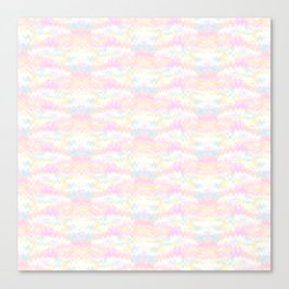 Pastel Ikat Canvas Print