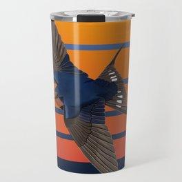 jz.birds Barn Swallow Bird Design Travel Mug
