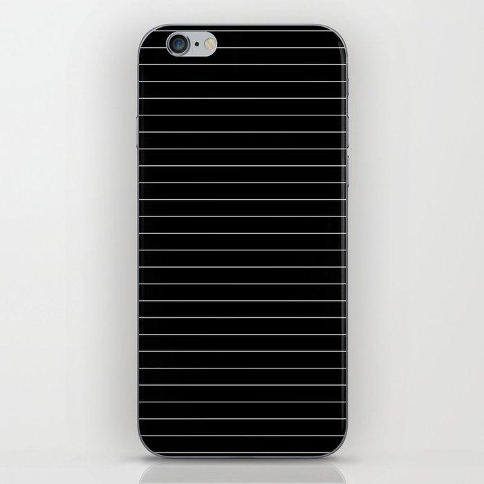 Black And White Pinstripe Line Stripe Minimalist Stripes Lines iPhone Skin