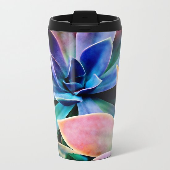 Spectacular Succulents 2 Metal Travel Mug