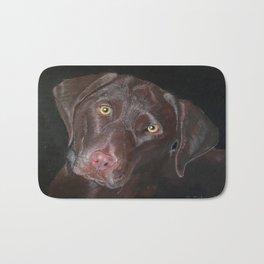Inquisitive Chocolate Labrador Bath Mat