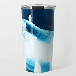 Love Isolation in Teal Travel Mug