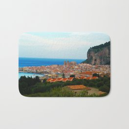 Cityscape of Cefalu Italy Bath Mat