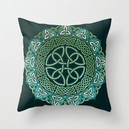 Celtic Mandala Throw Pillow