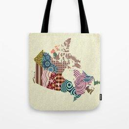 Canada Map Tote Bag