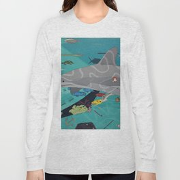 Aquarium (Shark Painting) Long Sleeve T-shirt