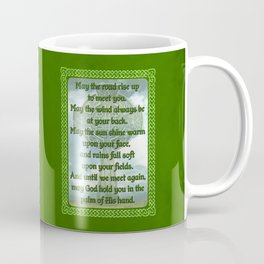 Green Irish Blessing Coffee Mug