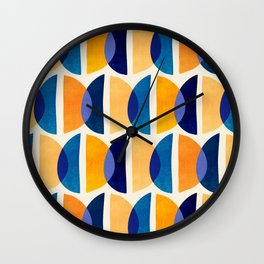 Night And Day Abstract / Geometric Pattern Wall Clock