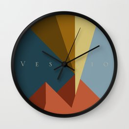 Vesuvio Wall Clock