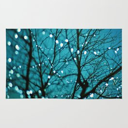 twinkly lights in a tree. Wonder Rug