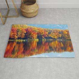 Autumn Colors at Lake Killarney Rug