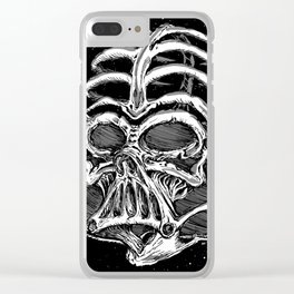 Dark Bones Clear iPhone Case