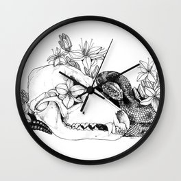 My Regrets Follow You to the Grave Wall Clock