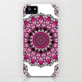 Pink and gray mandala iPhone Case