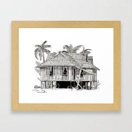Rumah Kampung Framed Art Print