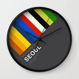 Colors of Seoul Wall Clock