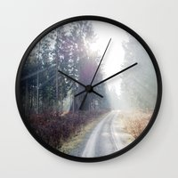 shining Wall Clocks featuring shining wood. by zenitt