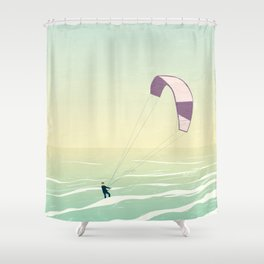 Kitesrfing Fehmarn Shower Curtain