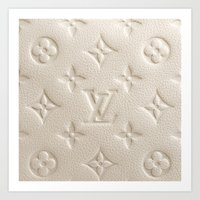 lv Art Prints featuring Cream LV by I Love Decor