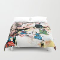 japanese Duvet Covers featuring Japanese 2  by Felicia Cirstea