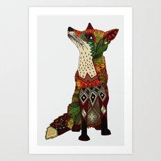 fox love off white Art Print