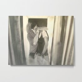 the weird kiss Metal Print