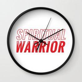 Spiritueller Krieger Spruch Wall Clock