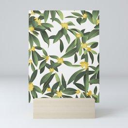 Loquat medlar tree in Autumn II Mini Art Print
