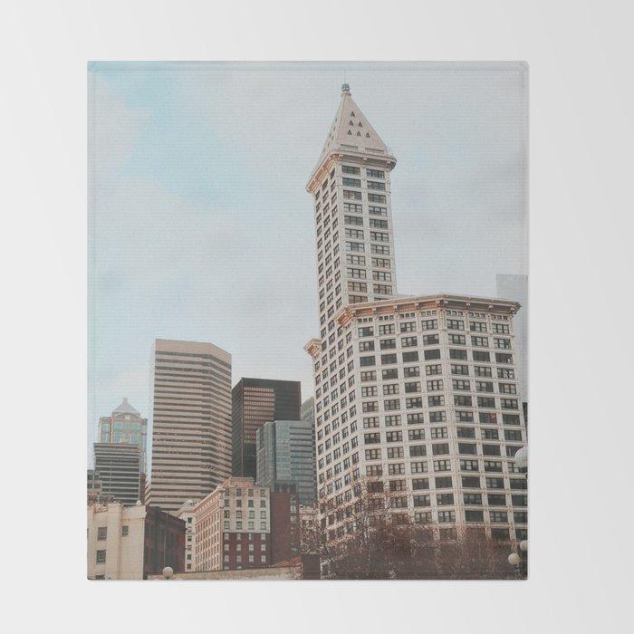Downtown Seattle Throw Blanket