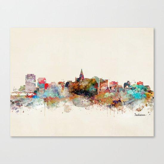 saskatoon canada skyline Canvas Print